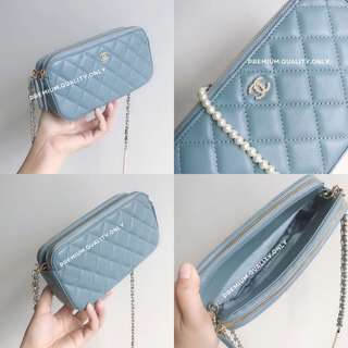 Chanel Clutch with Chain - blue