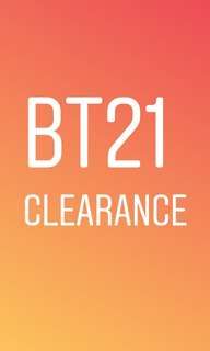 BT21 official clearance!!!!