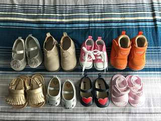 Pre-loved baby girl shoes for 6-12months old