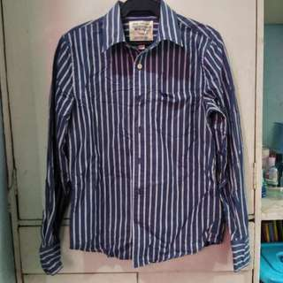 Striped Long Sleeves Polo