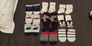 Baby socks boys 0-3 months