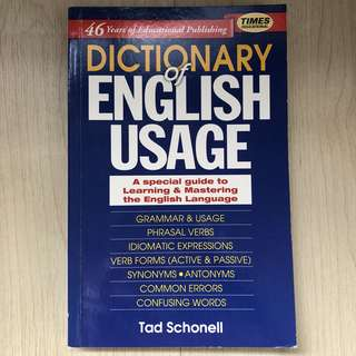 Dictionary of English Usage (Times Educational)
