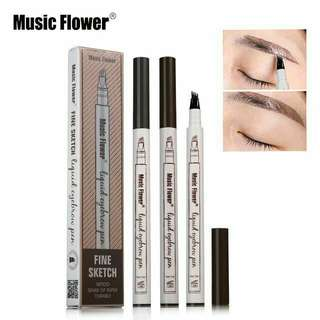 Music Flower Embroidery Eyebrow Pencil