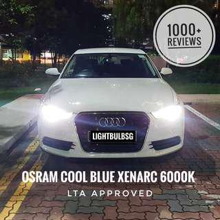 AUDI - Original OSRAM xenon HID bulb (cool blue xenarc) white headlight bulbs for A3 A4 A5 A6 A7 Q3 Q5 (VW Volkswagon GTI BMW Mercedes Mazda Honda) Not Philips D1S D2S D3S D4S D2R