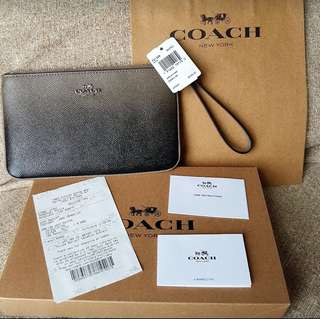 Coach Ombre Large Wristlet in SV/FOG
