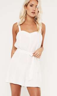 Glassons white linen playsuit