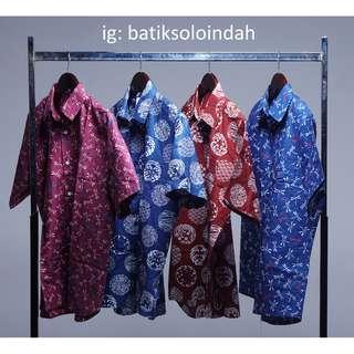 Jual Kemeja Batik Lengan Pendek Asli Kota Solo