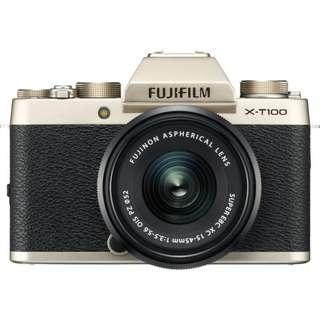 New Fujifilm X-T100 Mirrorless Digital Camera with XC 15-45mm f/3.5-5.6 OIS PZ Kit Lens (Free 32GB SD Card + Instax SP-3)