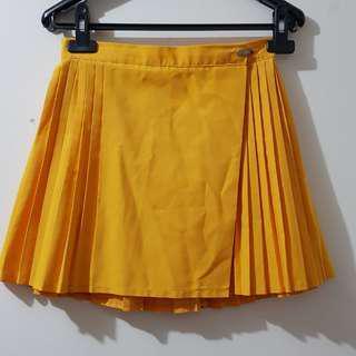 Yellow netball skirt