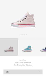 🚚 Converse 幼童帆布鞋 (rose粉紅 蘋果綠 墨綠 寶藍)