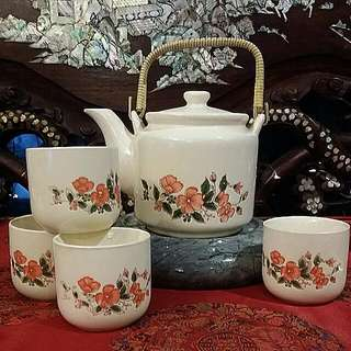 Chinese/Japanese Vintage Teapot Set 5pcs