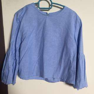 Crop tops with puff sleeves