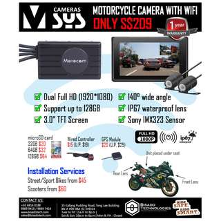 Dual Full HD Motorcycle Camera with WIFI
