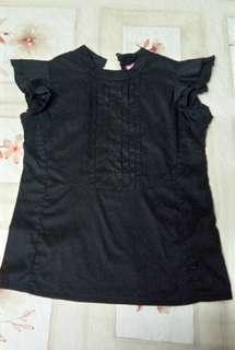 pleated black top