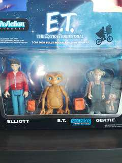 REACTION FIGURES ET The Extra Terrestrial (3 figure set)