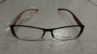 🚚 CARLSSON 卡爾森 時尚鏡框 眼鏡 黑x紅