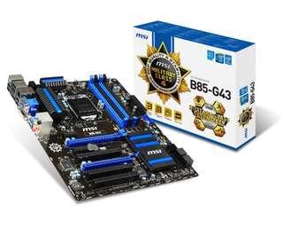 MSI B85M-G43 Motherboard + Bundle Options