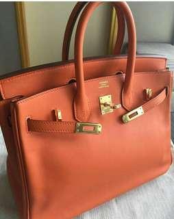 Hermes Birkin 25 In Orange