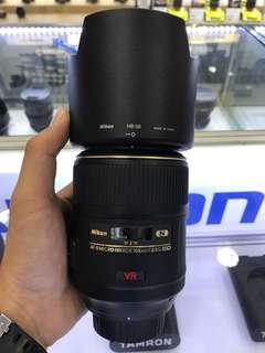 Nikon 105mm F2.8 AFS VR MICRO LENS