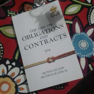 Oblicon law on obligations and contract
