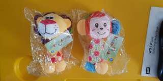Happy Monkey Hand Bell rattles Lion and Monkey new