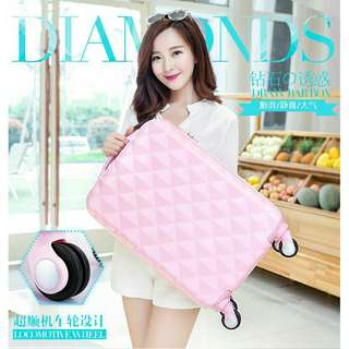 """*FREE DELIVERY to WM only / Ready stock* 22"""" luggage bag each as shown in design/color pink. Free delivery is applied for this item."""
