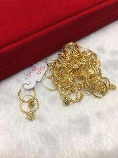 Saudi Gold 18k Loop earrings