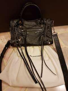 LNIB Balenciaga Mini City with Silver hardware