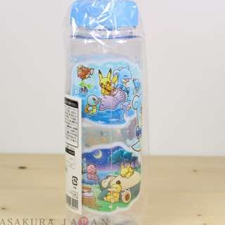 Pokemon Center Original Pikachu Riding with Lapras  clear water bottle 500 ml