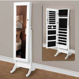 SPACE SAVER JEWELRY ORGANIZER WITH MIRROR