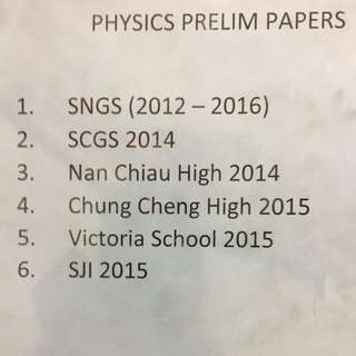 Sec 4 express physics papers