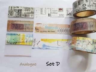 Analogue Washi samples Set D