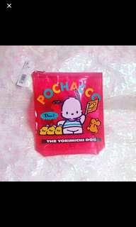 Sanrio 1994 絕版罕有 Pochacco PC狗 拉錬袋
