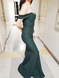 Emerald Green Gown For Sale