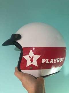 🚚 智同 CA-310 PLAYBOY 全罩 半罩安全帽 白色