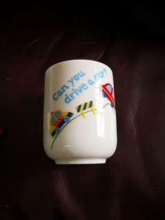 日本絕版車仔陶瓷杯