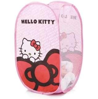 {現貨}Hello kitty洗衣籃 髒衣籃 衣服收納籃 摺疊網狀洗衣籃 儲物籃