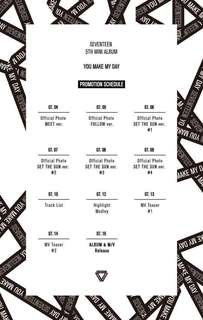 SEVENTEEN 5th Mini Album YOU MAKE MY DAY (Normal Albums)