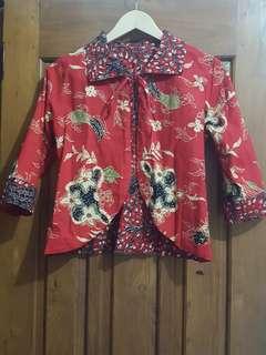 Blazer Batik Merah