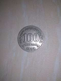 Koin Rp. 100 tahun 1973