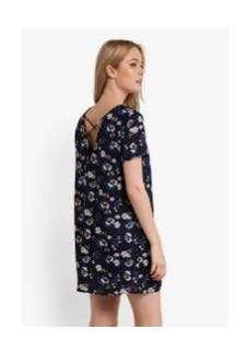 Something borrowed v neck cross back dress