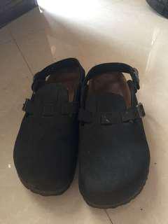Birkin by Birkenstock Boston Black Sandals shoes
