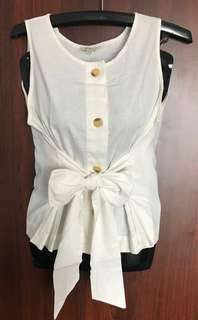 Et Cetera Top / Blouse Sleeveless with Bow