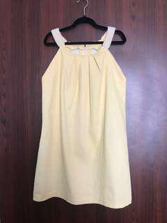Yellow Dress with Pearls