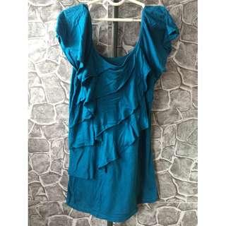 aqua blue blouse