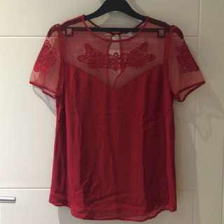 New Look Red Top