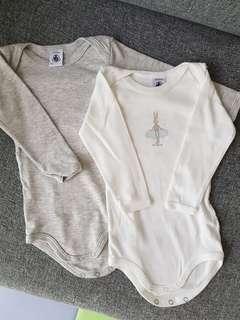 Petit Bateau Long Sleeved Bodysuits