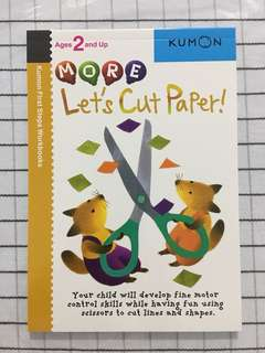 🚚 Kumon age 2 and up - let's cut paper!