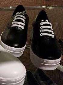 PRIMADONNA Black Flaux Leather Sneakers (Kathryn Bernardo's Fave)