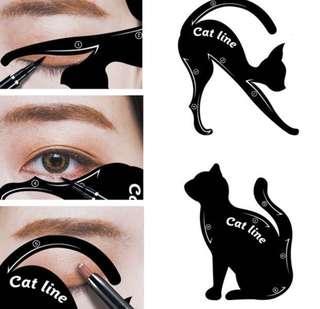 2 pcs cat eyeliner tool